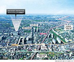 「新松戸」駅徒歩16分に誕生する全12邸の街。