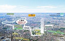 南東角地、南道路区画有り 【京成大久保エリア】最大級全33区画