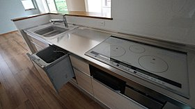 IHコンロ、食洗機付システムキッチン