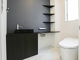 手洗いスペースを備えた1階トイレ