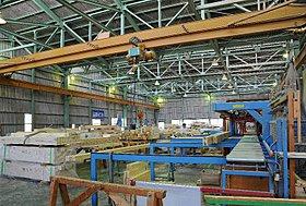 自社グループ会社のプレカット工場