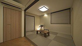 LDKと一体感をもった落ち着きのある和室空間