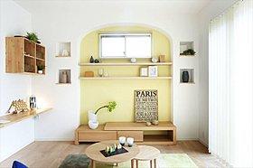 オリジナルのギャラリーは家族の宝物を飾る空間として。