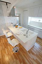家事がはかどるオープンなキッチンスペース