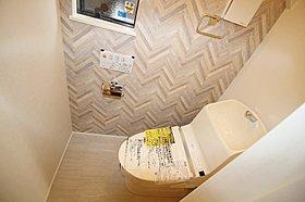 節水タイプのシャワー付三面鏡洗面化粧台!【写真:1号棟】