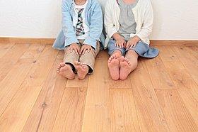 裸足で気持ちがいい無垢床【モデルハウス】
