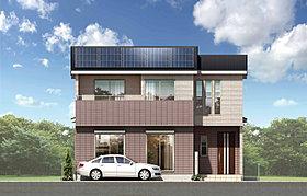 全棟に太陽光発電を搭載したエコな家。