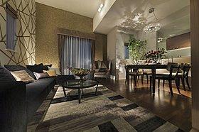 LDKは全邸15畳以上を確保。折り上げ天井を採用。