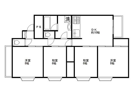 マンション(建物全部)-佐野市朝日町 4DK