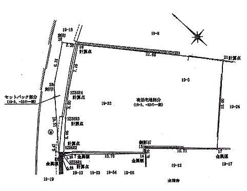土地-新宿区富久町 区画図