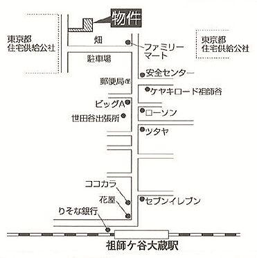 アパート-世田谷区祖師谷4丁目 現地図