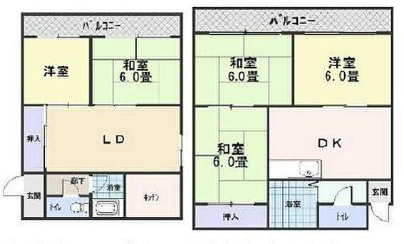 マンション(建物全部)-堺市堺区中向陽町1丁 間取り