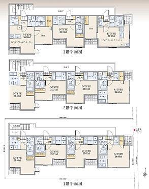 マンション(建物全部)-中野区中野3丁目 各階間取り図