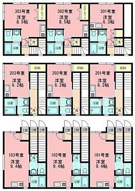 アパート-葛飾区東新小岩6丁目 JR総武線「新小岩」駅 一棟売アパート 間取り図