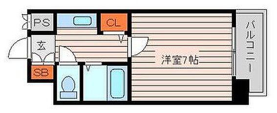 マンション(建物一部)-熊本市中央区坪井1丁目 間取り
