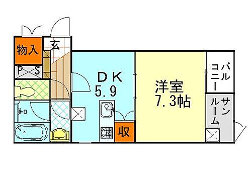 マンション(建物全部)-金沢市増泉1丁目 間取り