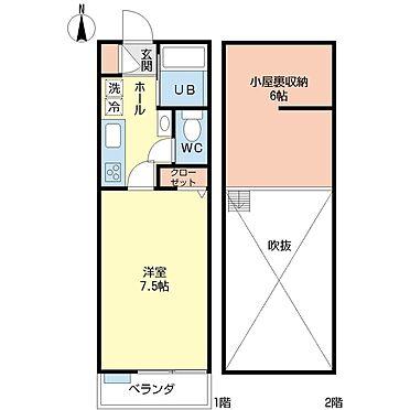 アパート-江東区東砂7丁目 103号室間取り