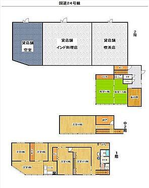店舗付住宅(建物全部)-橋本市野 間取り