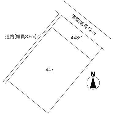 土地-笠間市旭町 区画図