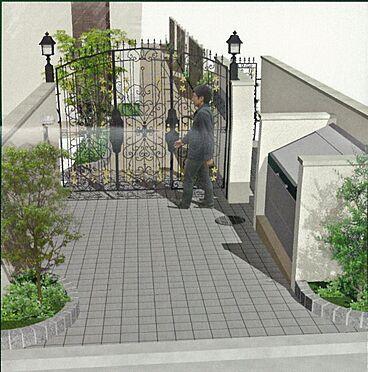 アパート-新宿区若葉1丁目 エントランス入口イメージ図です。