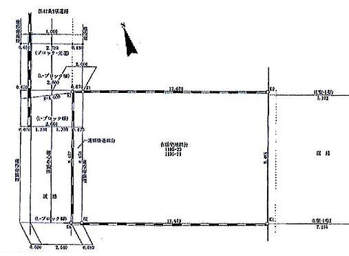 土地-目黒区碑文谷1丁目 区画図