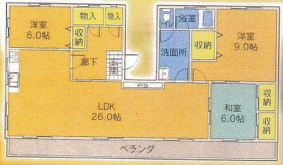 マンション(建物一部)-長崎市白木町 間取り