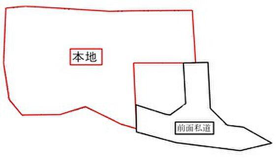 マンション(建物全部)-いわき市常磐湯本町山ノ神 敷地図