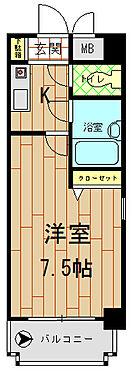 マンション(建物一部)-熊本市中央区船場町3丁目 間取り