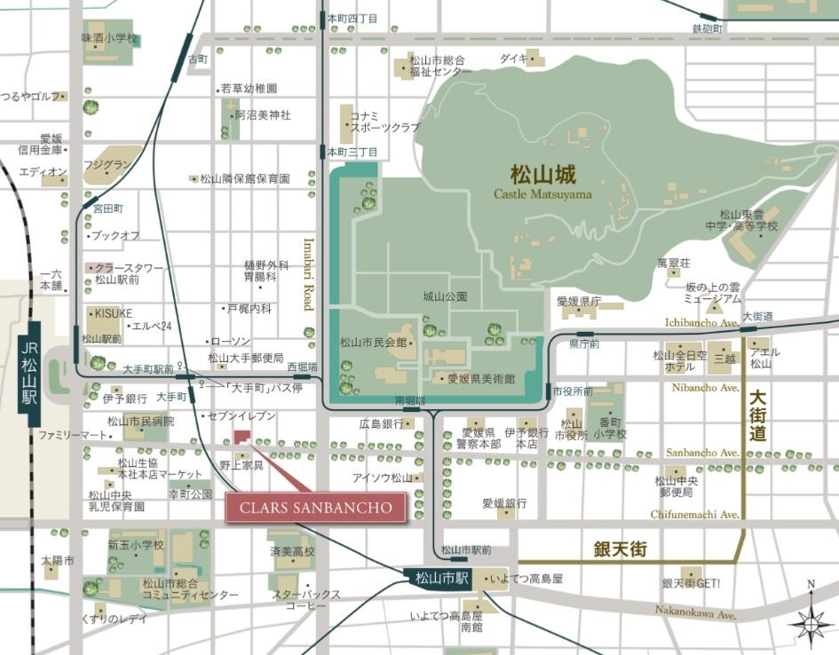 クラース三番町:案内図