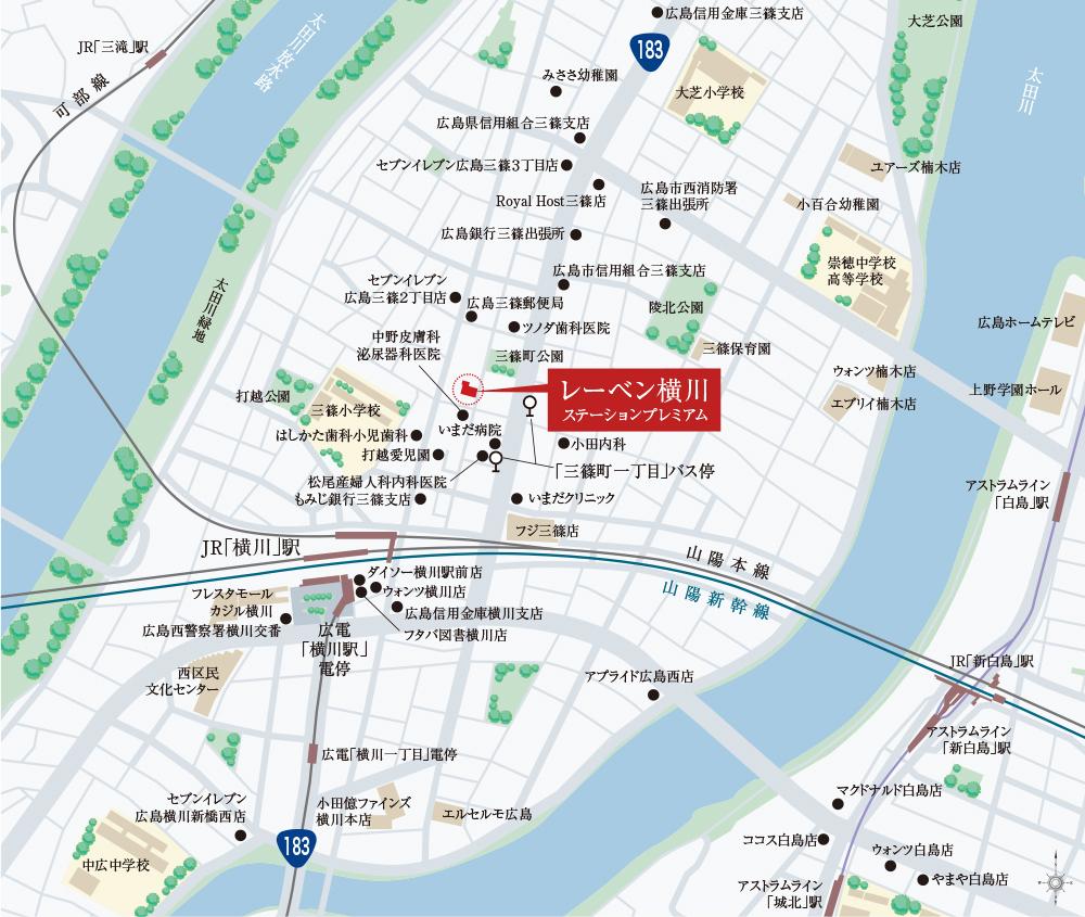 レーベン横川STATION PREMIUM:案内図