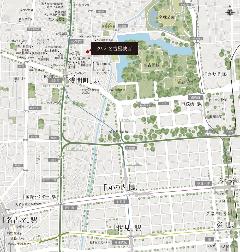 クリオ名古屋城西:モデルルーム地図