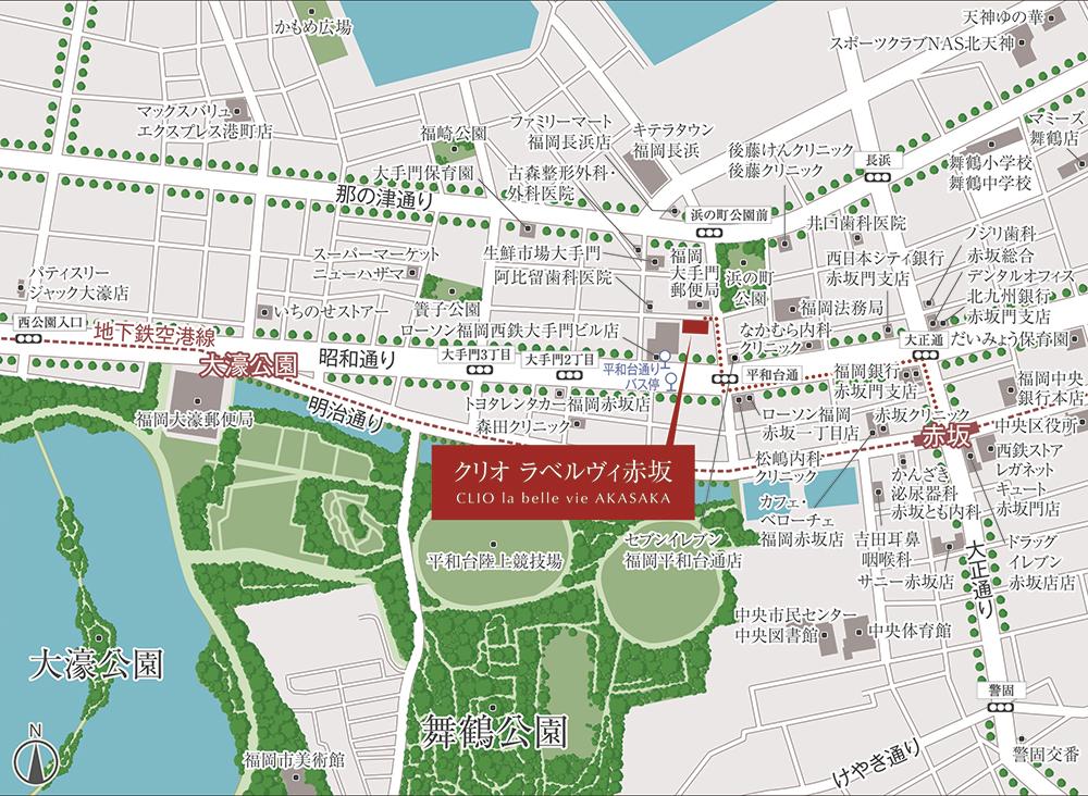 クリオ ラベルヴィ赤坂:案内図