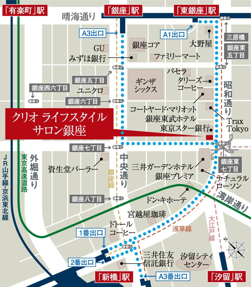 クリオ市谷柳町:モデルルーム地図