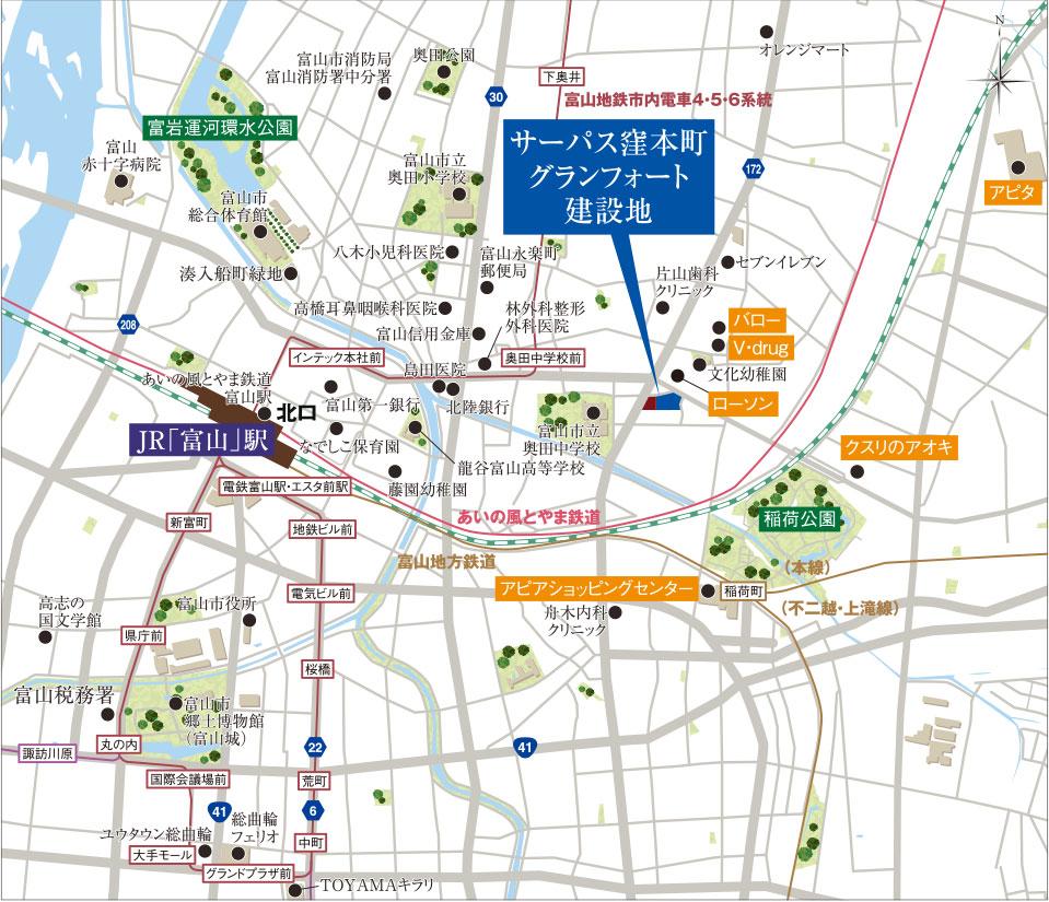 サーパス窪本町グランフォート:案内図