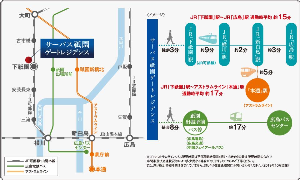サーパス祇園ゲートレジデンス:交通図