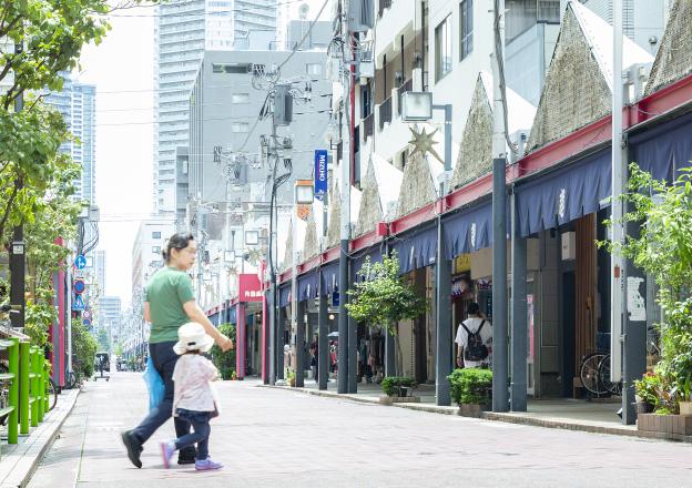 月島西仲通り商店街 約350m(徒歩5分)
