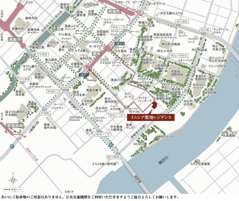 イニシア築地レジデンス:モデルルーム地図