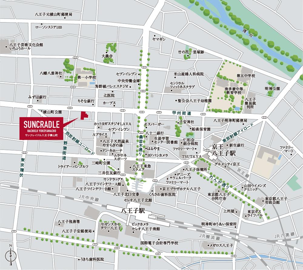 サンクレイドル八王子横山町:案内図