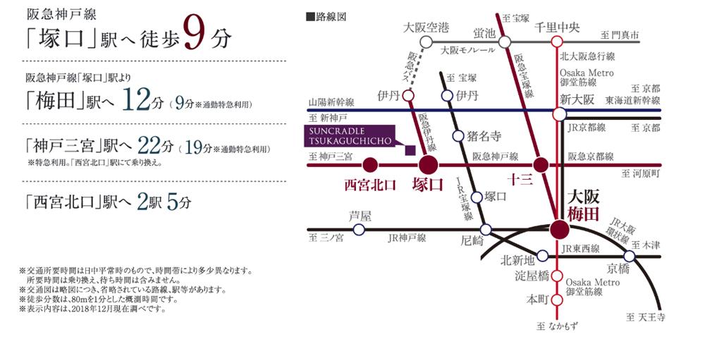 サンクレイドル塚口町:交通図