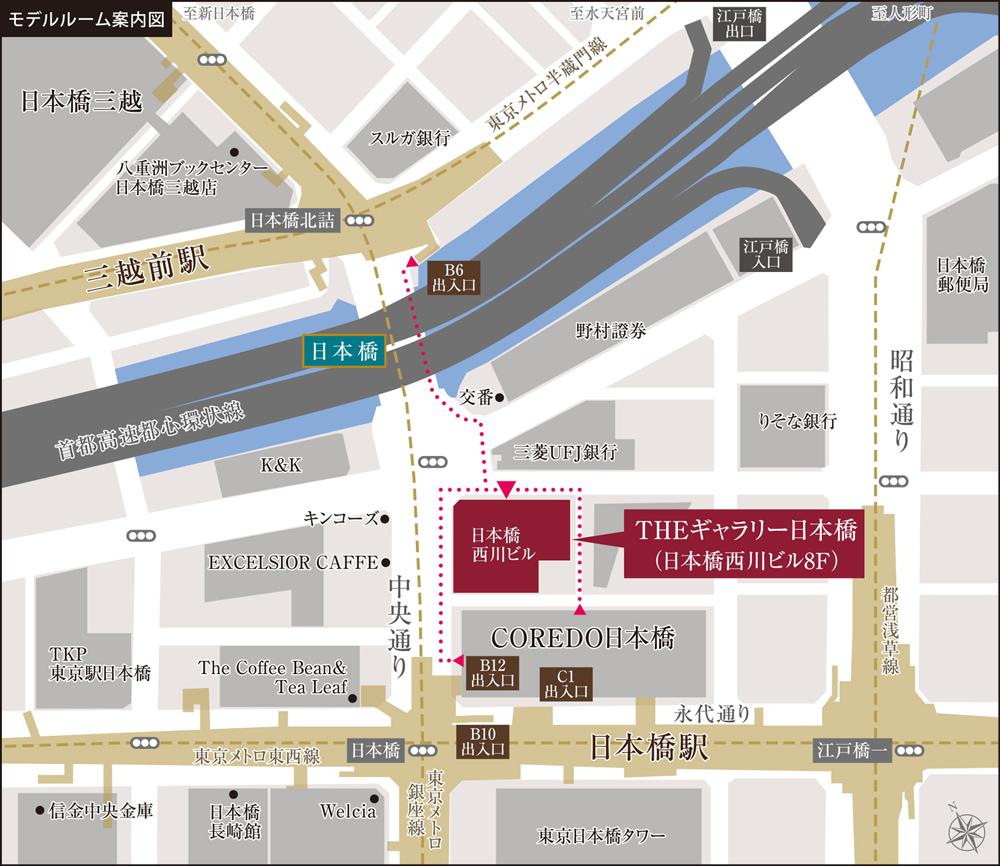 ウィルローズ日本橋浜町公園:モデルルーム地図