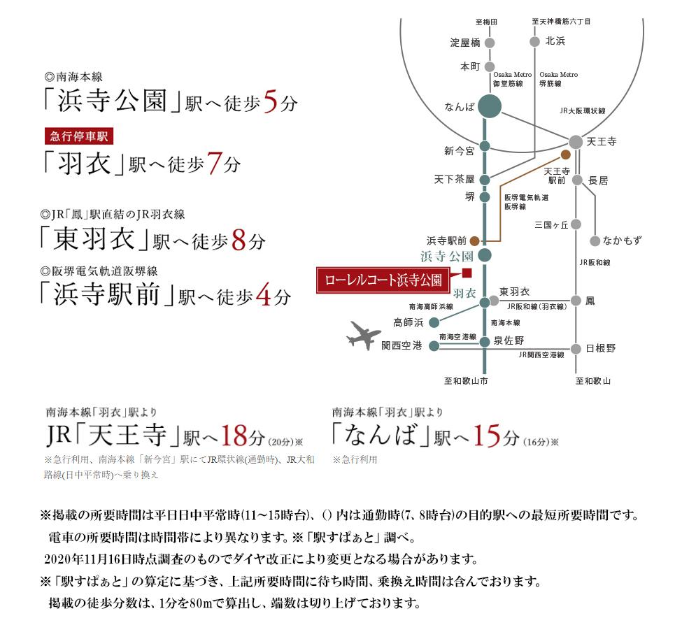 ローレルコート浜寺公園:交通図