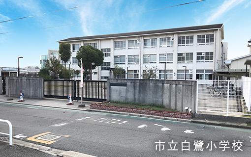 市立白鷺小学校 約860m(徒歩11分)