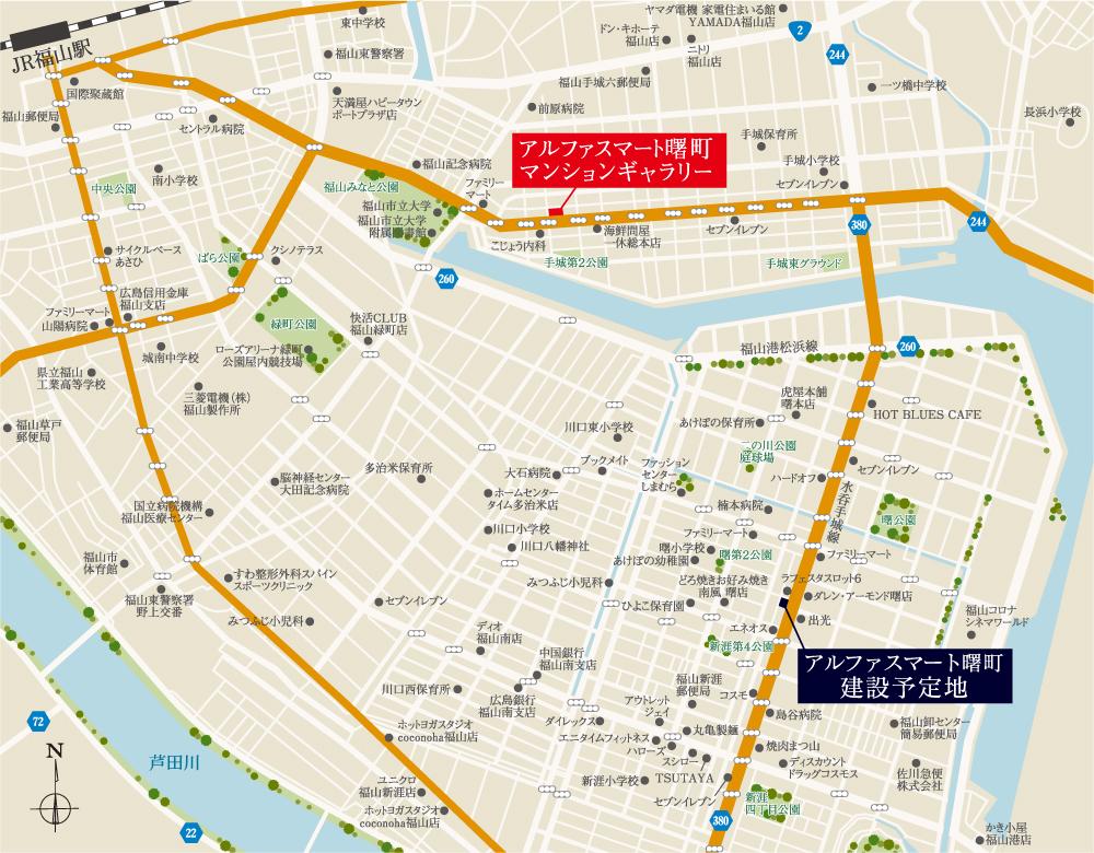 アルファスマート曙町:モデルルーム地図