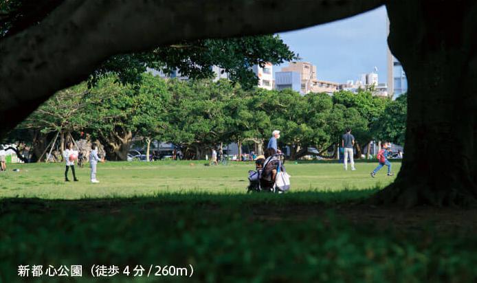 新都心公園 約260m(徒歩4分)