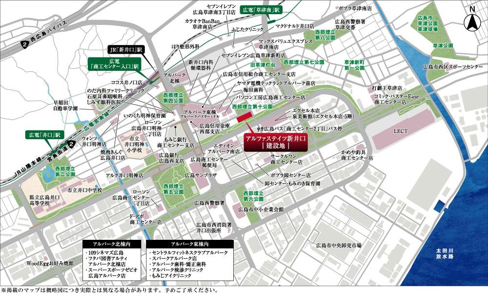 アルファステイツ新井口:案内図