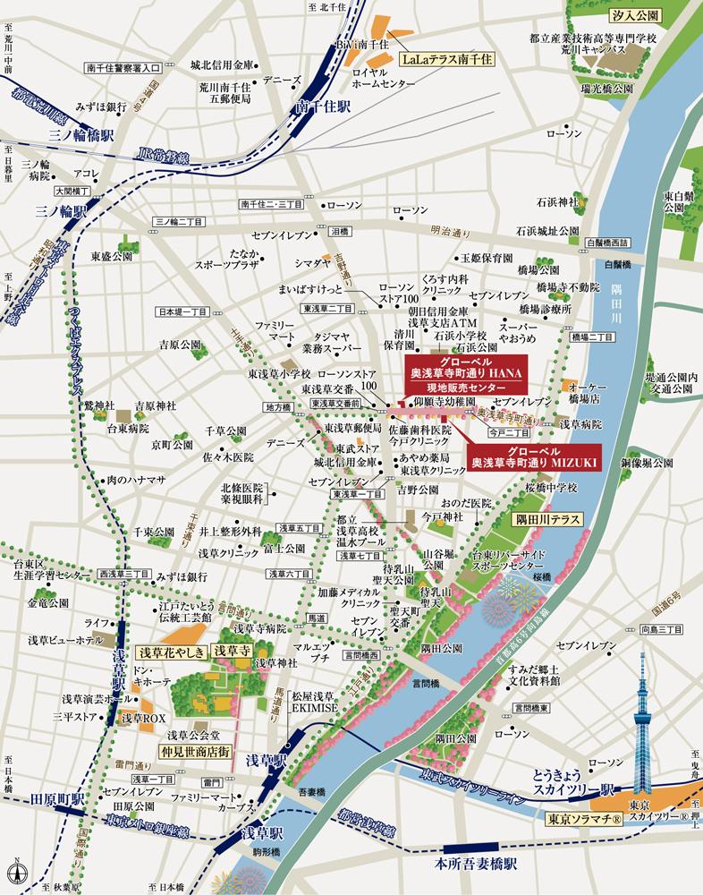 グローベル 奥浅草寺町通り MIZUKI:案内図
