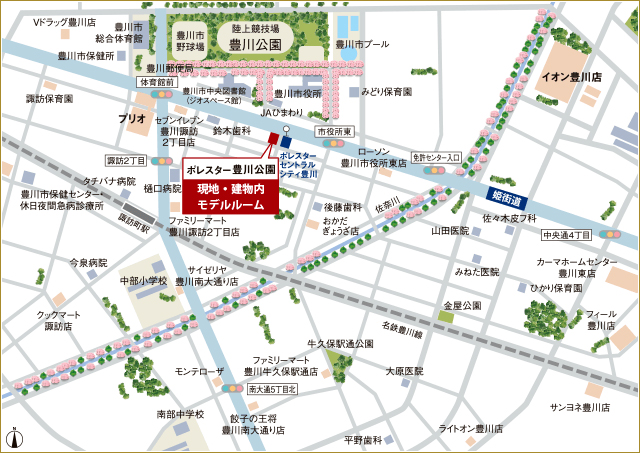 ポレスター豊川公園:案内図