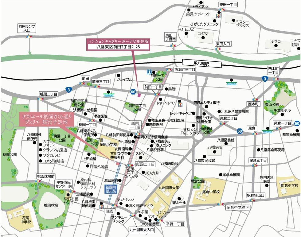 リヴィエール祇園さくら通りヴェリエ:モデルルーム地図