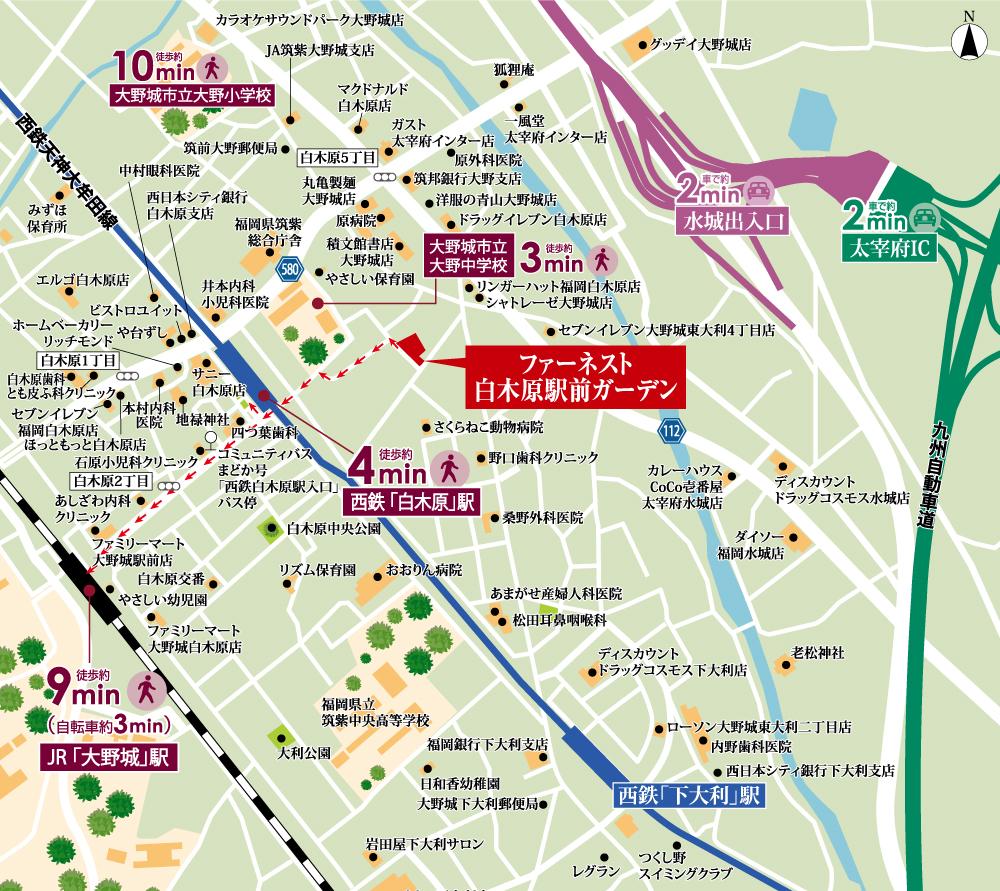 ファーネスト白木原駅前ガーデン:案内図