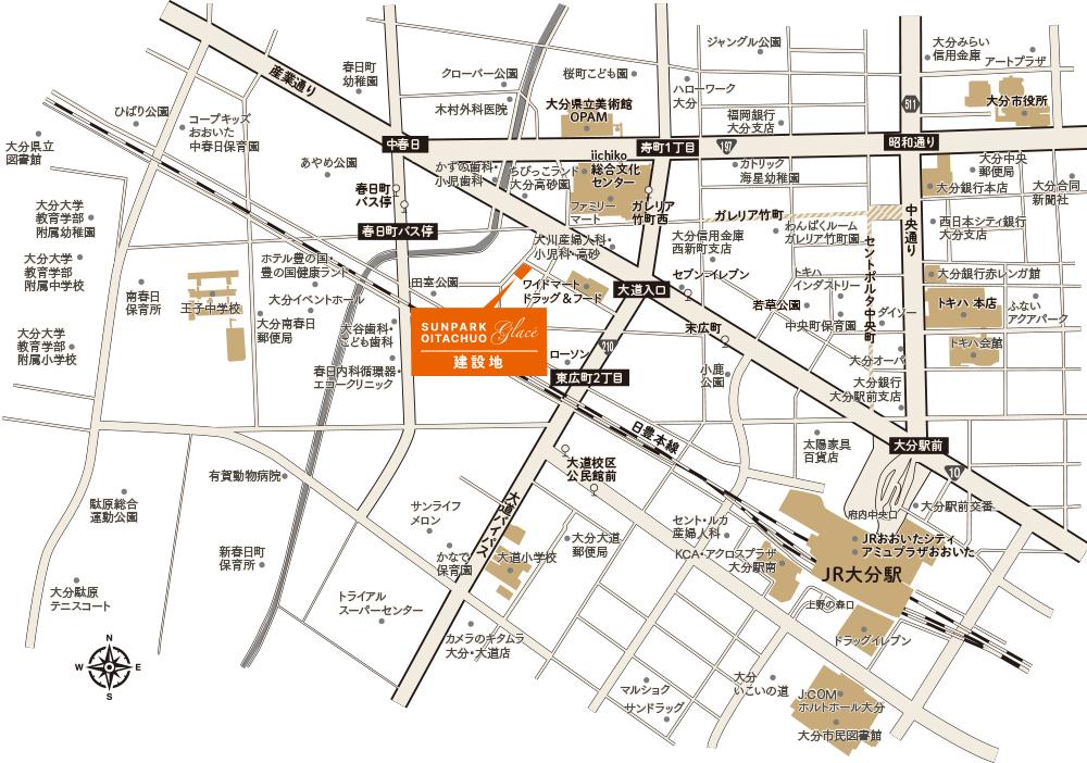 サンパーク大分中央グラッセ:案内図